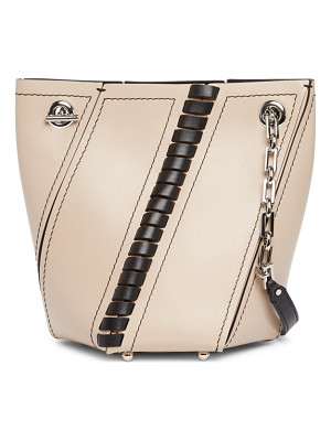 PROENZA SCHOULER Mini Hex Whipstitch Leather Bucket Bag