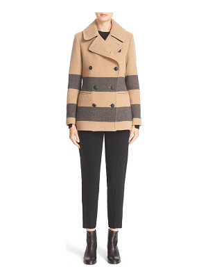 Rag & Bone 'skye' stripe wool blend peacoat