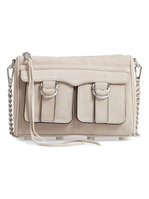 REBECCA MINKOFF Cliffside Nubuck Crossbody Bag
