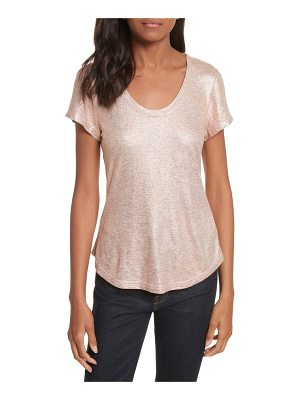 Rebecca Taylor foil jersey top