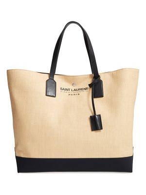 SAINT LAURENT Large Beach/Shopping Tote