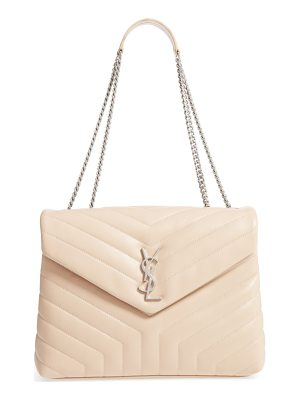 Saint Laurent Loulou Monogram Y Quilted Medium Bowling Bag