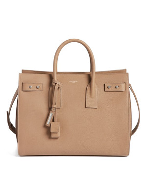 SAINT LAURENT Medium Sac De Jour Grained Leather Tote