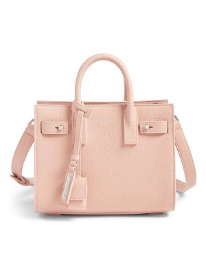 SAINT LAURENT Nano Sac Du Jour Leather Tote