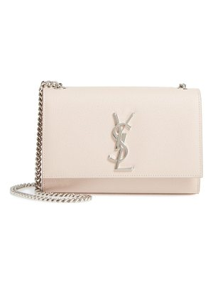 SAINT LAURENT Small Kate Grained Leather Crossbody Bag