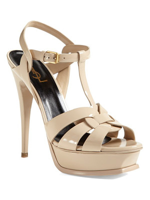 SAINT LAURENT Tribute T-Strap Platform Sandal