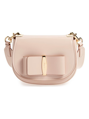 SALVATORE FERRAGAMO Anna Vara Leather Crossbody Bag