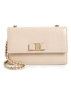 SALVATORE FERRAGAMO Saffiano Leather Shoulder Bag