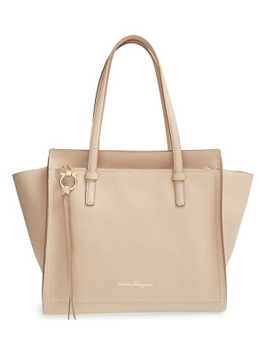 Salvatore Ferragamo small calfskin leather tote