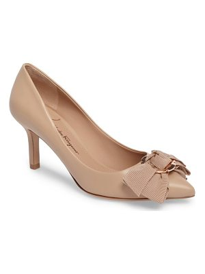 SALVATORE FERRAGAMO Talla Bow Pointy Toe Pump