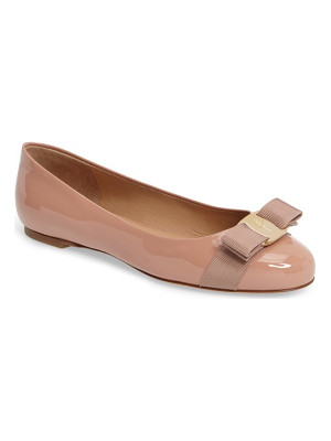 Salvatore Ferragamo varina leather flat