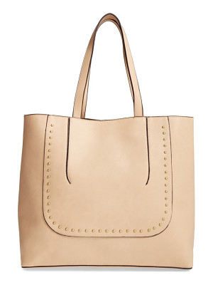 SOLE SOCIETY Adelaine Studded Faux Leather Tote
