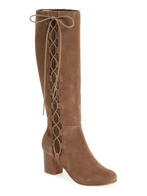 SOLE SOCIETY Arabella Knee High Lace-Up Boot