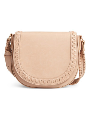 SOLE SOCIETY Clovey Faux Leather Saddlebag