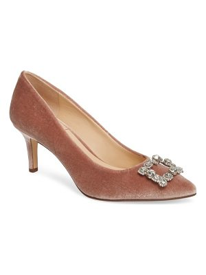 SOLE SOCIETY Edilina Crystal Buckle Velvet Pump