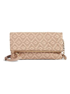SOLE SOCIETY Lisbeth Weave Foldover Clutch