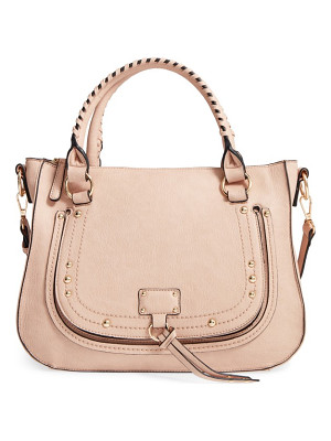 SOLE SOCIETY Whipstitch Faux Leather Satchel