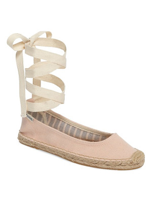 Soludos ankle tie espadrille flat