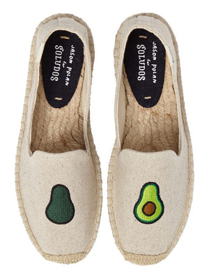 SOLUDOS Avocado Embroidered Platform Espadrille