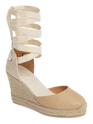 Soludos lace-up espadrille wedge