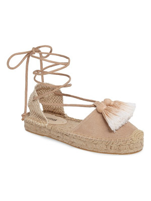 Soludos tassel lace-up espadrille