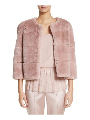 ST. JOHN Genuine Rex Rabbit Fur Jacket