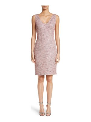 ST. JOHN Metallic Tweed Sheath Dress