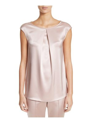 ST. JOHN Pleated Liquid Satin Top