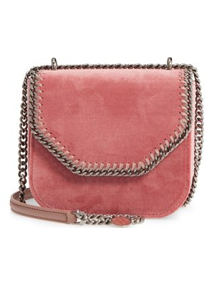 STELLA MCCARTNEY Mini Falabella Box Velvet Shoulder Bag