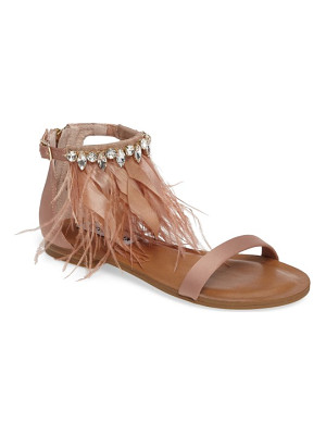 STEVE MADDEN Adore Embellished Feather Sandal