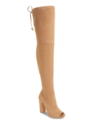 STEVE MADDEN Elliana Over The Knee Open Toe Boot