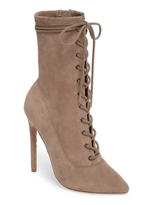 STEVE MADDEN Satisfied Corset-Lace Bootie