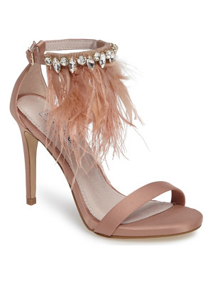 STEVE MADDEN Savanna Embellished Feather Sandal