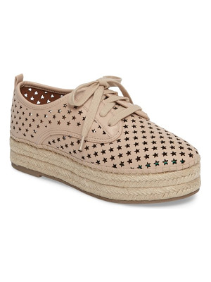 Steve Madden shadow perforated platform oxford