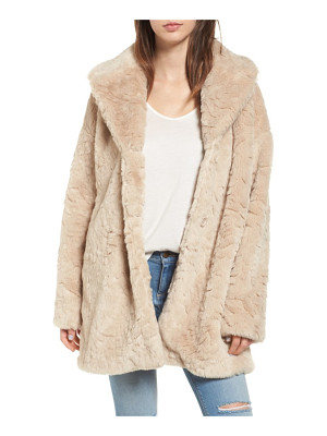 Steve Madden shaggy faux fur coat
