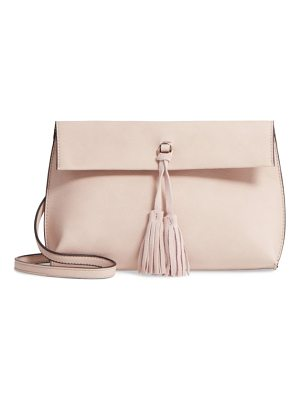 STREET LEVEL Faux Leather Tassel Tote