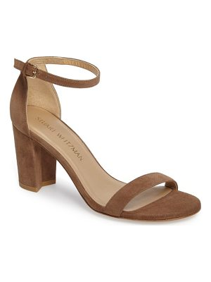 STUART WEITZMAN Nearlynude Ankle Strap Sandal