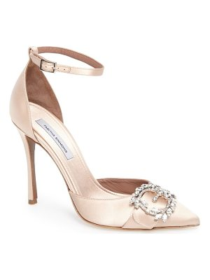 TABITHA SIMMONS Tie The Knot Crystal Buckle Pump
