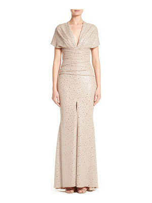 Talbot Runhof metallic mermaid gown