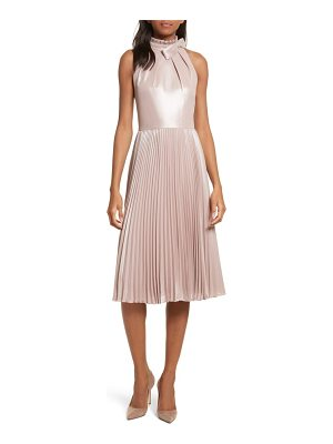 TED BAKER Bow Neck Fit & Flare Dress