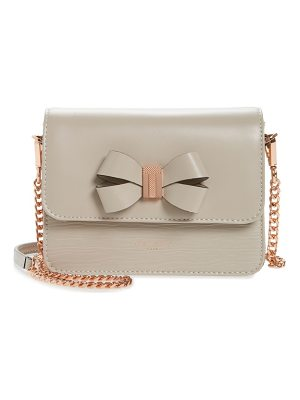 TED BAKER Callih Bow Leather Crossbody Bag