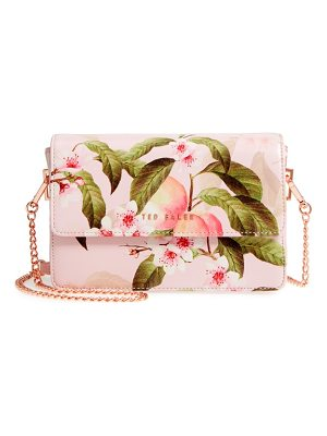 TED BAKER Disha Peach Blossom Faux Leather Crossbody Bag