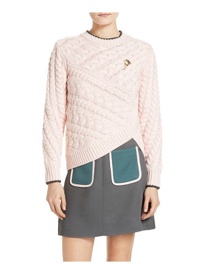 Ted Baker London charo cable knit wrap front sweater