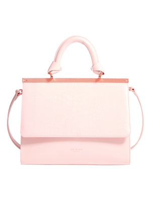 TED BAKER Croc Embossed Leather Satchel