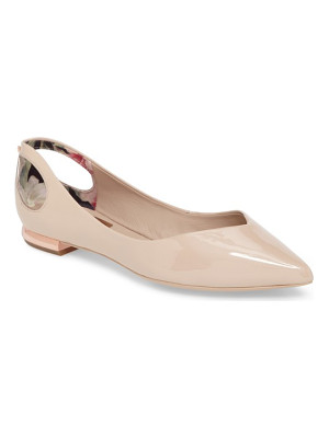 TED BAKER Dabih Cutout Pointy Toe Flat