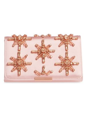 TED BAKER LONDON Daveena Crystal Embellished Satin Clutch