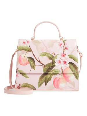 TED BAKER Dipelta Peach Faux Leather Satchel