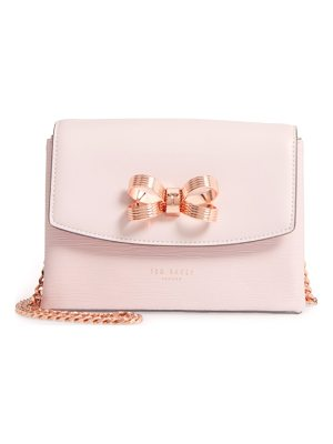 TED BAKER LONDON Leorr Bow Leather Crossbody Bag