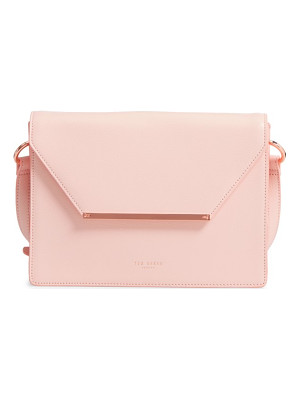Ted Baker London magsie bar detail leather envelope clutch