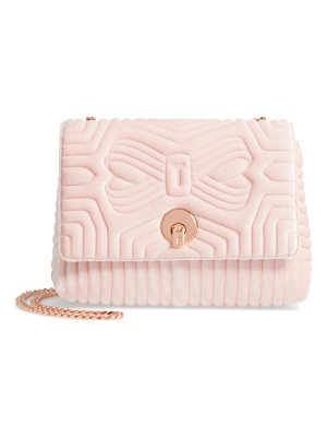 Ted Baker quilted velvet crossbody bag